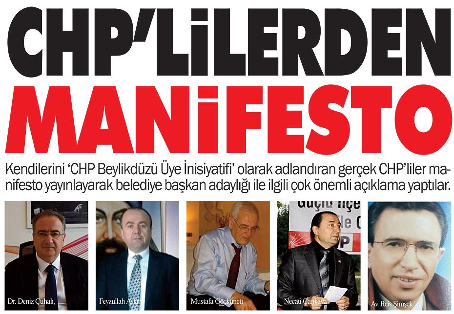 CHP'LİLERDEN MANİFESTO