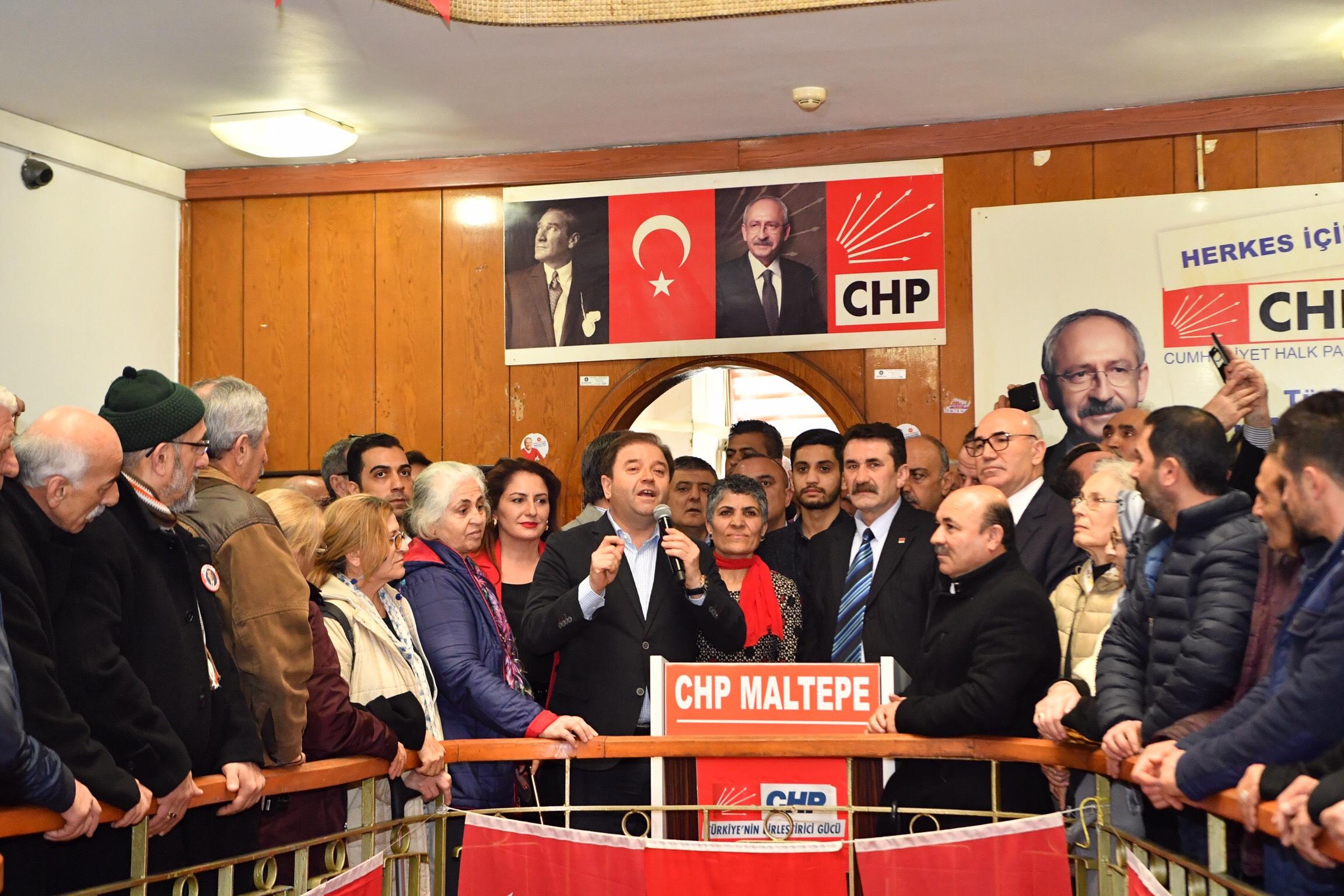 CHP MALTEPE'DE ALİ KILIÇ COŞKUSU