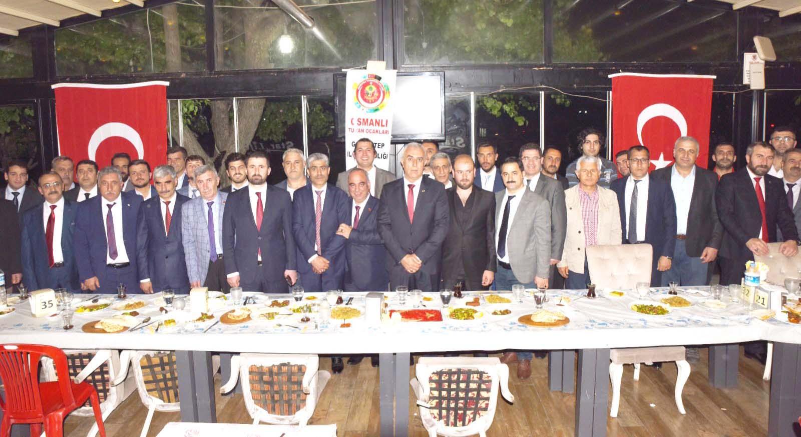 Gaziantep Osmanlı Turan Ocakları kardeşlik yemeğine yoğun ilgi