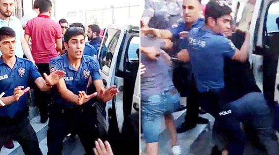 Mahallelinin yakaladığı tacizciyi polis linçten kurtardı