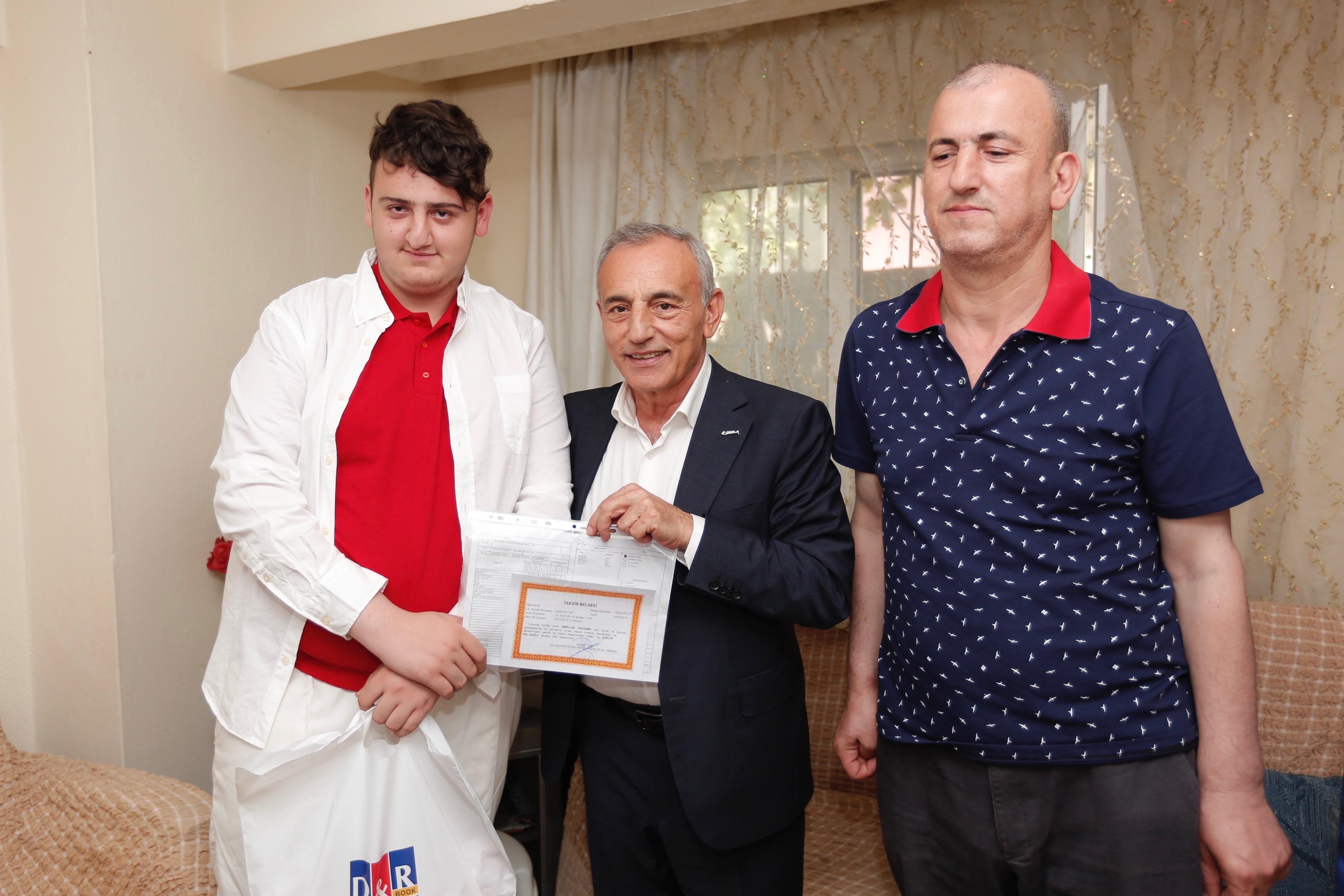 Başkan Çebi'den fedakar baba Özdemir'e ziyaret