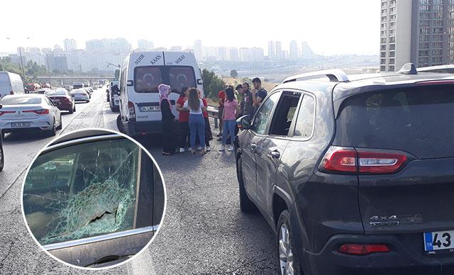 TEM'de sürücü kalp krizi geçirdi; 7 araç kazaya karıştı