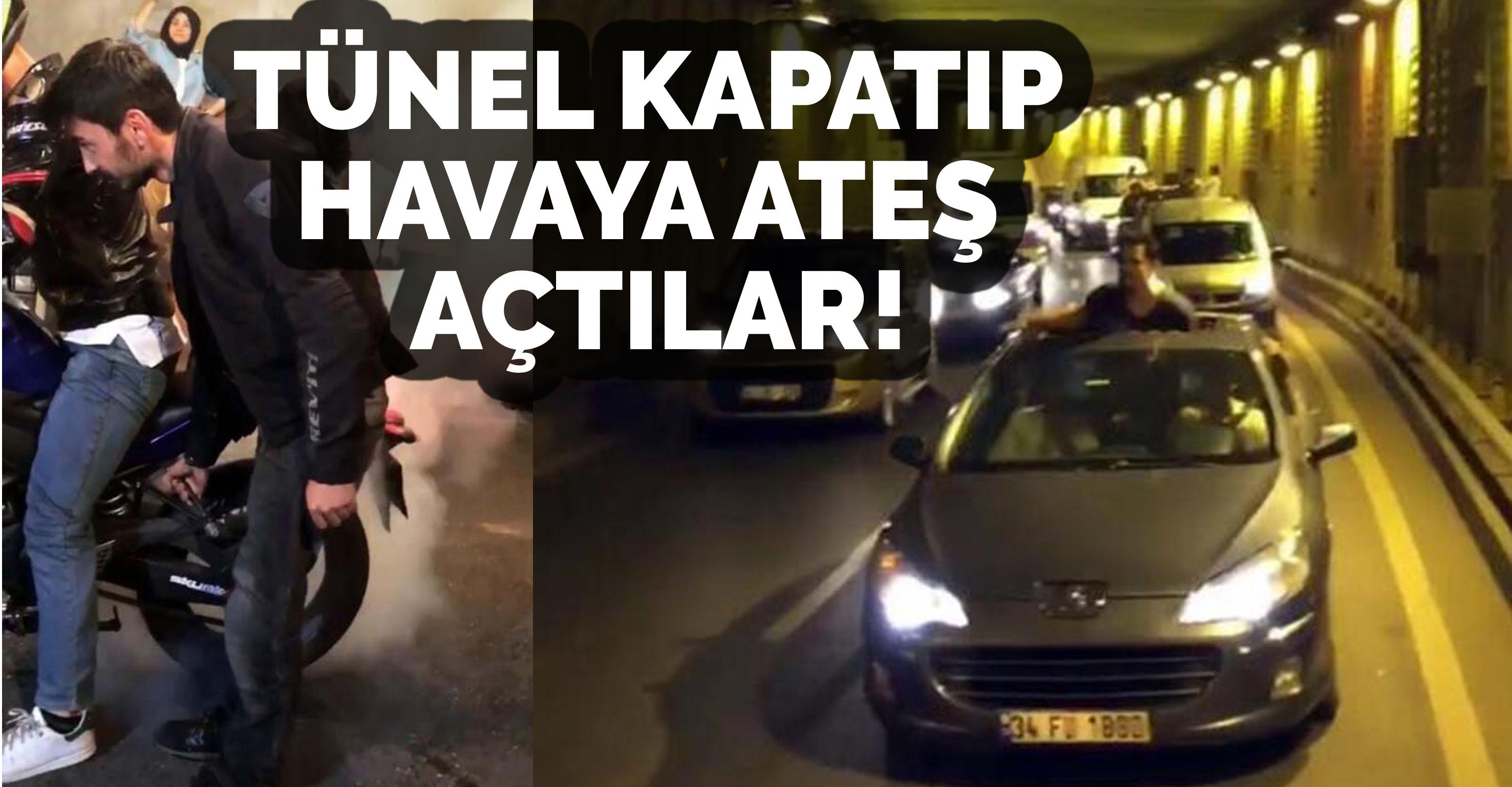 İstanbul'da şoke eden görüntüler! Tünel kapatıp havaya ateş açtılar…