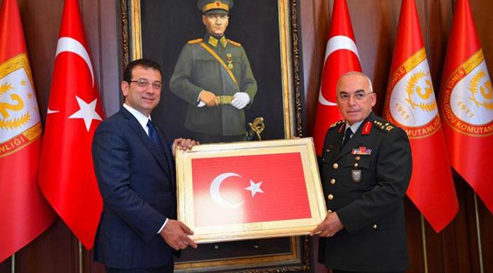 Ekrem İmamoğlu, ikinci resmi ziyaretini 1. Ordu Komutanı'na yaptı