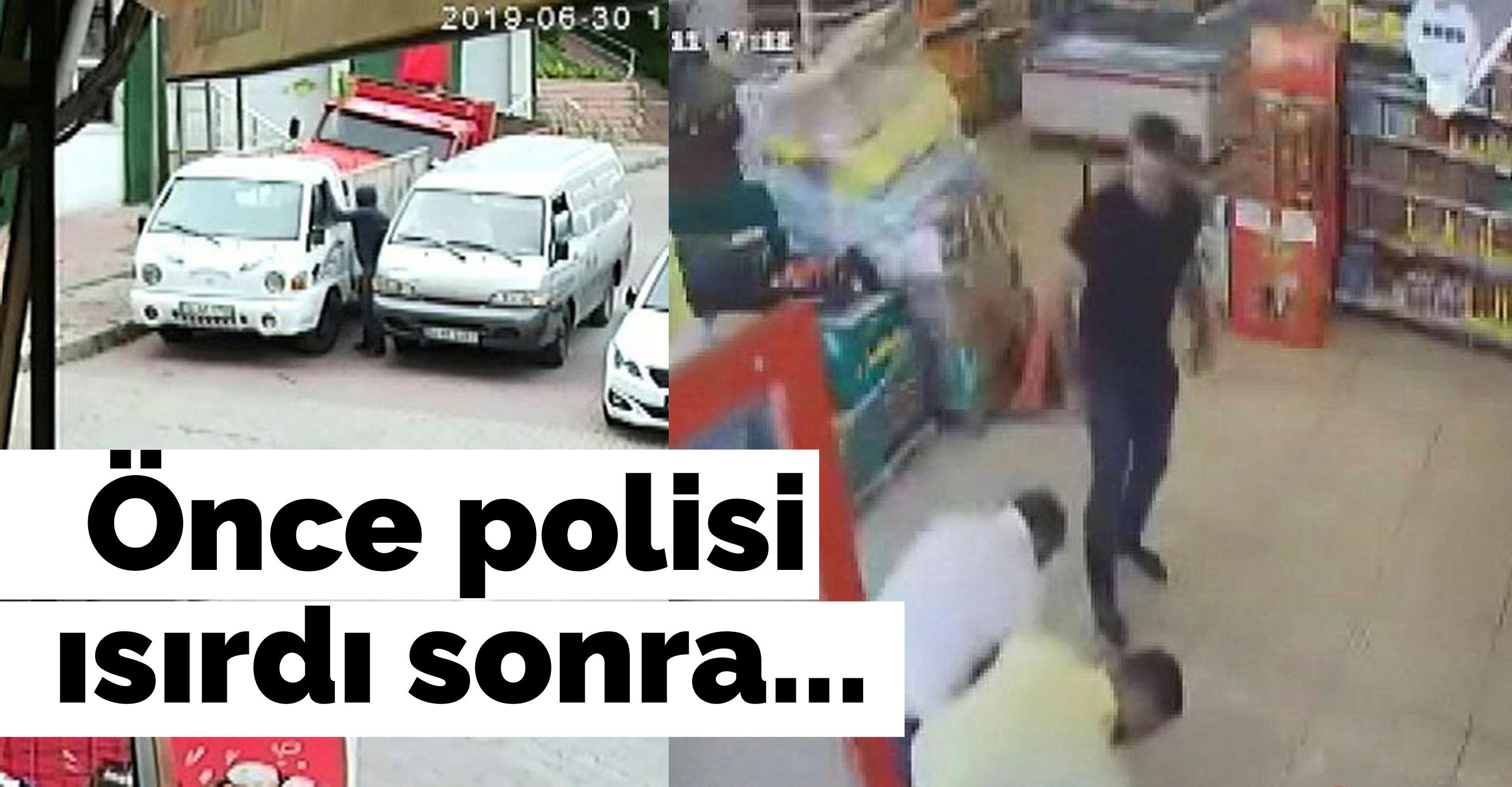 İstanbul'da şok olay! Önce polisi ısırdı sonra…