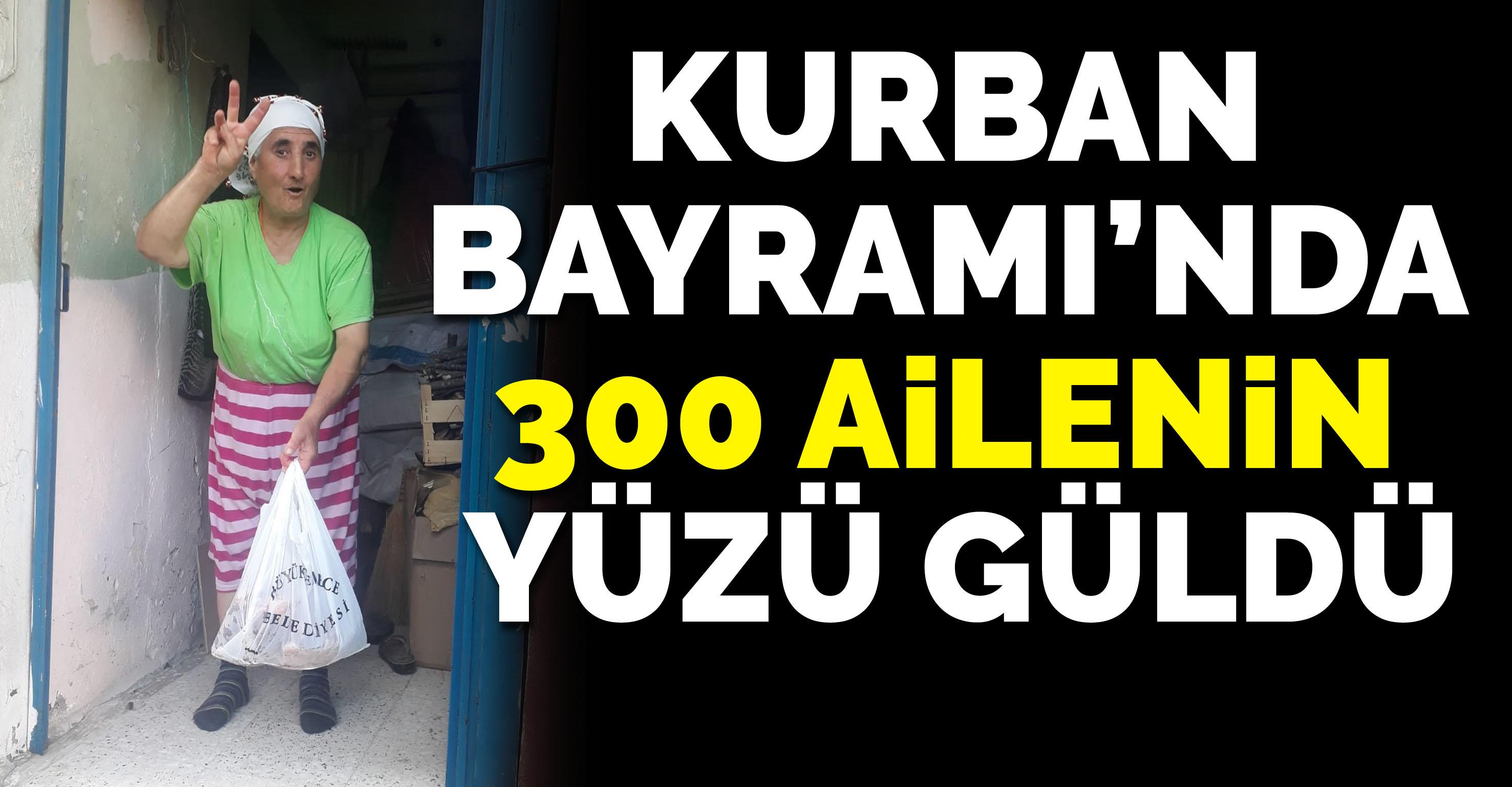 Büyükçekmece Belediyesi Kurban Bayramı'nda 300 ailenin yüzünü güldürdü
