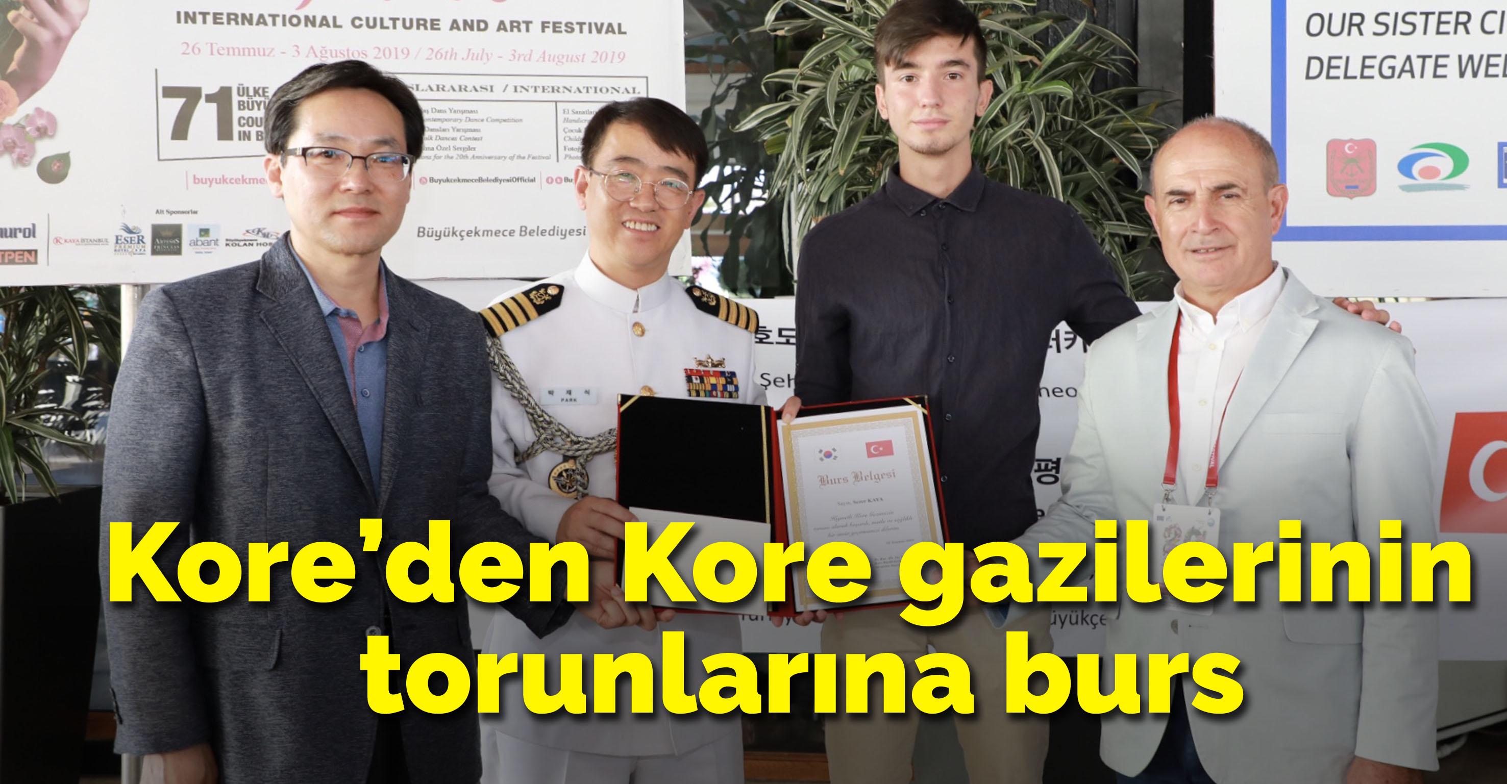 Kore'den Kore gazilerinin torunlarına burs