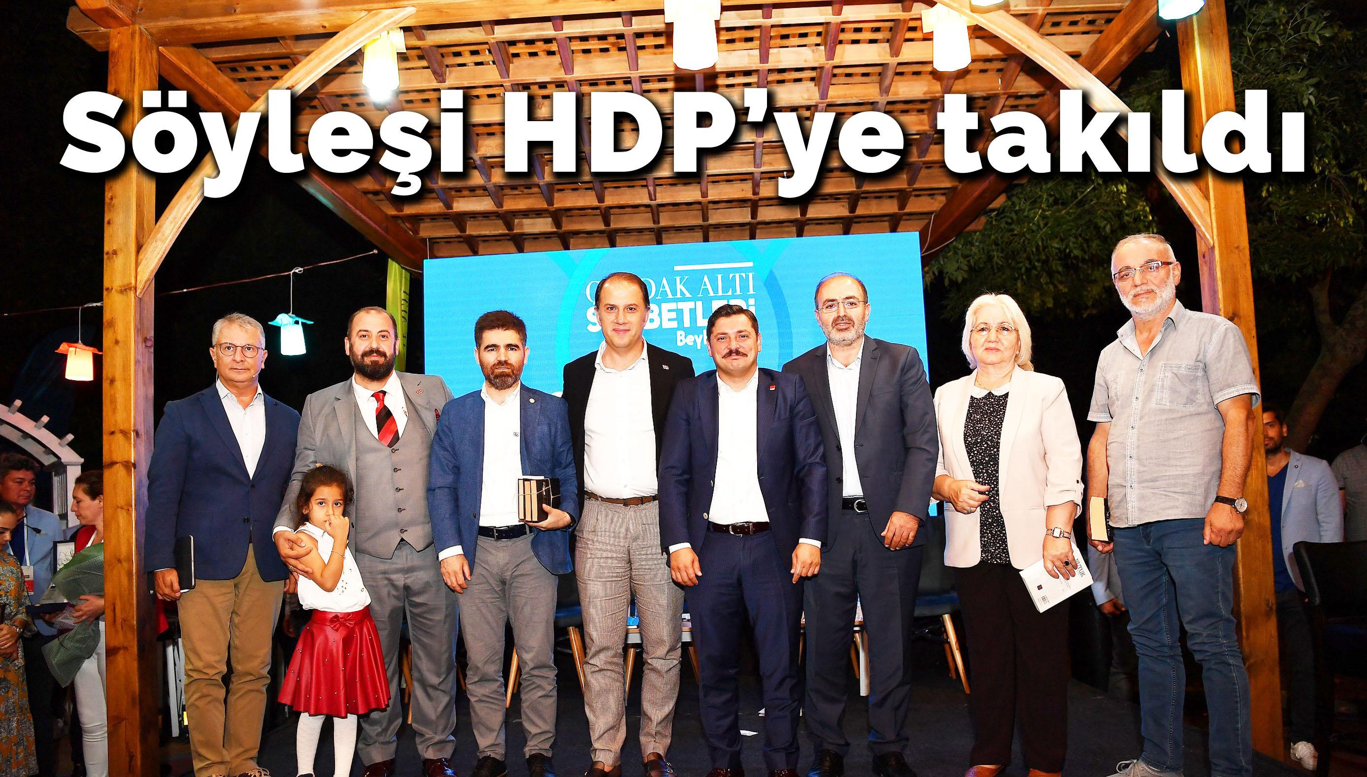 Söyleşi HDP'ye takıldı