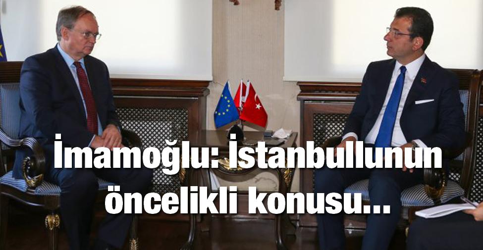 Ekrem İmamoğlu: İstanbullunun öncelikli konusu…