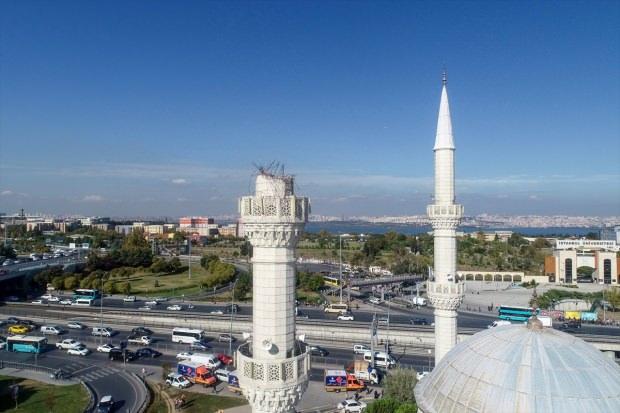 Avcılar'da minaresi yıkılan cami mühürlendi