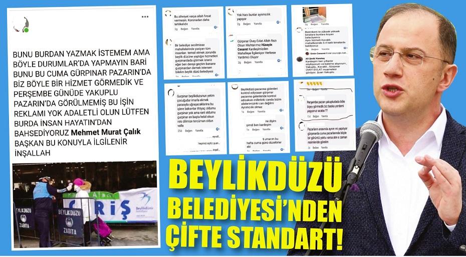 BEYLİKDÜZÜ BELEDİYESİ'NDEN ÇİFTE STANDART!