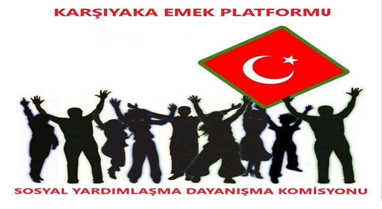 Karşıyaka Emek Platformu Sosyal Yardımlaşma-Dayanışma Grubu'ndan Örnek Vefa