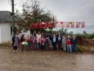 29 Ekim Cumhuriyet Bayramı İzmir-Tire Hasançavuşlar Mahallesinde Köylüler Tarafından Coşkuyla Kutlandı