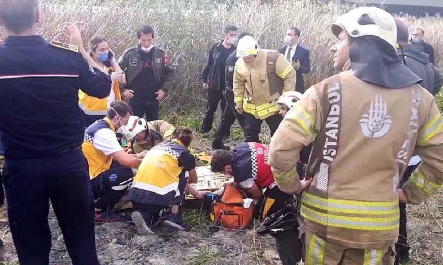 Düşen uçağın pilotu hastanede hayatını kaybetti