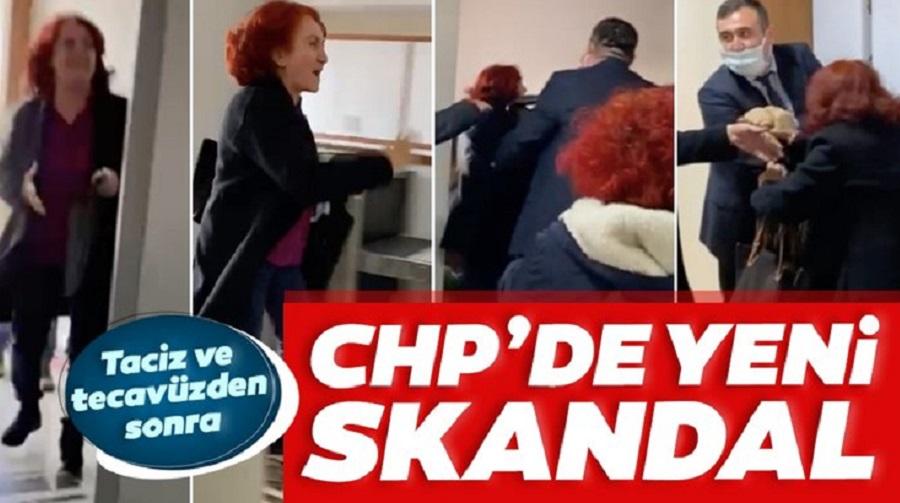 CHP'de taciz ve tecavüzden sonra kadına şiddet -Video Haber-