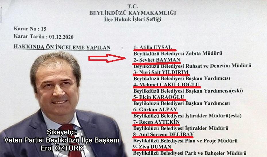 BEYLİKDÜZÜ BELEDİYESİ'NE ŞOK