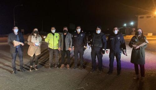 Tügva Nöbet Tutan Polisleri Unutmadı
