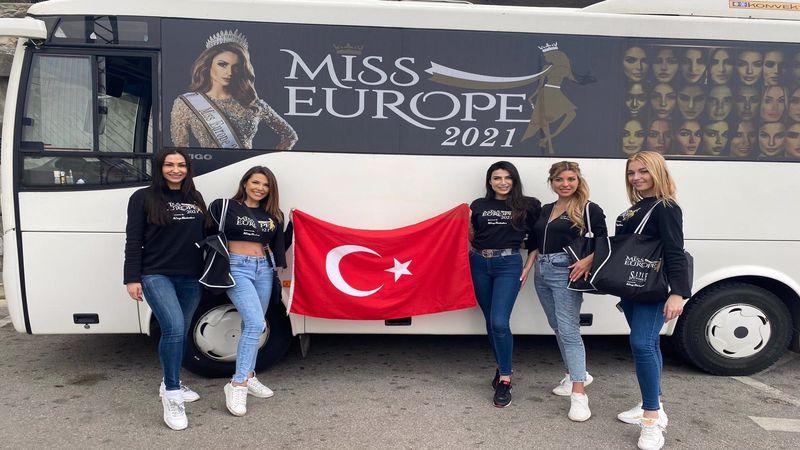 Ünlü model Duygu Çakmak Miss Europe 2021 kampında