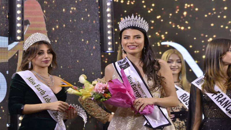 Türk güzeli Duygu Çakmak Lübnan'da üçüncü oldu