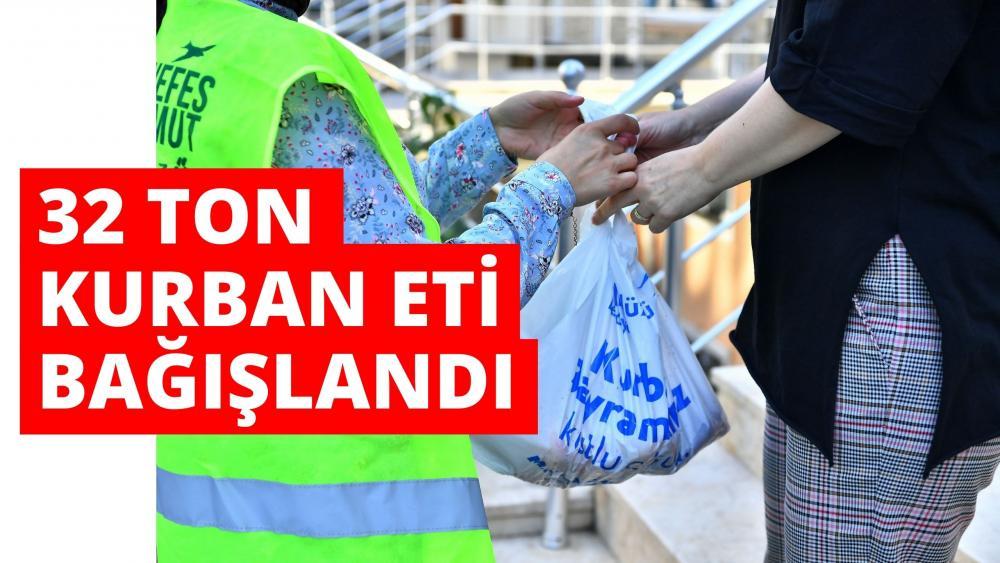 BEYLİKDÜZÜ BELEDİYESİ'NDEN 32 TON KURBAN BAĞIŞI