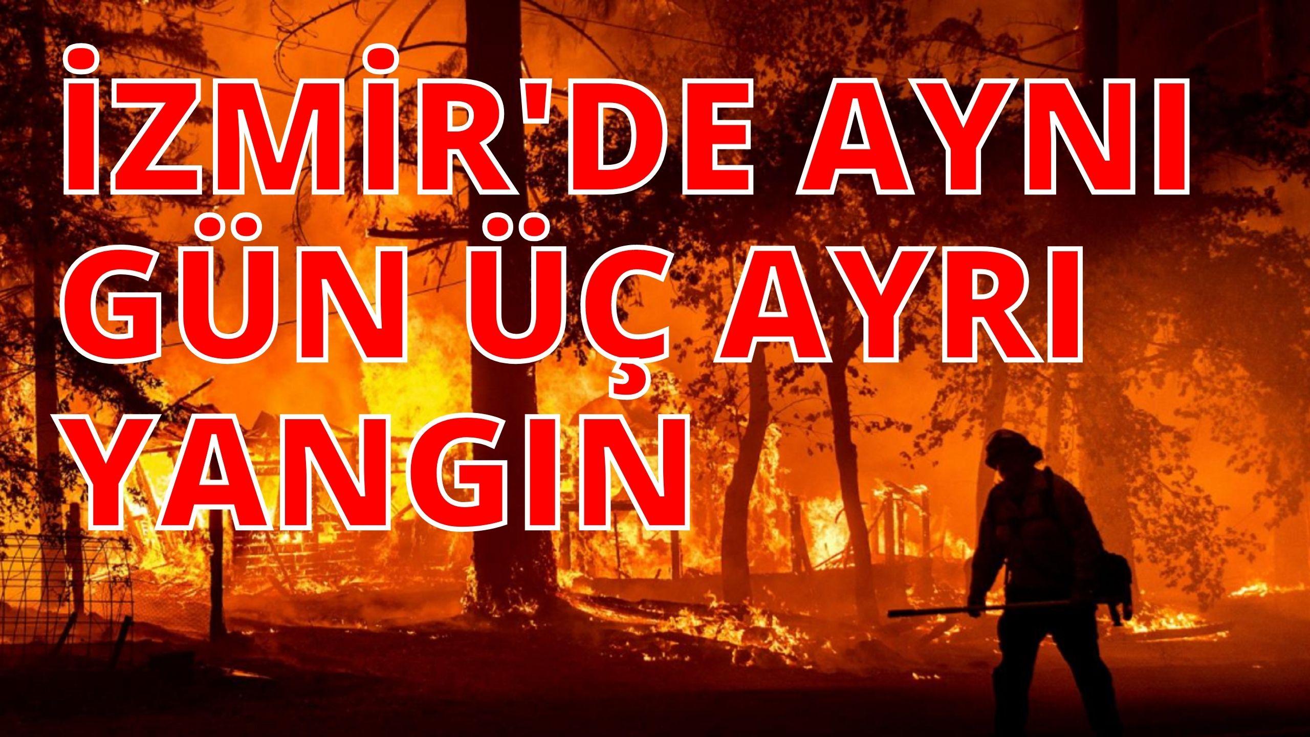 İZMİR'DE BİR GÜNDE 3 AYRI ORMAN YANGINI